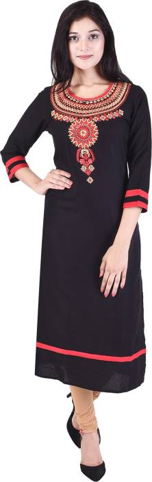 The Style Story Embroidered Women Straight Kurta