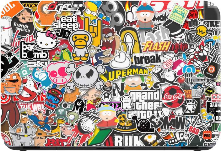 Sticker pro sticker bomb vinyl laptop decal 15 6