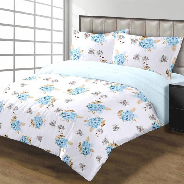 Raymond 104 TC Cotton Double Printed Bedsheet