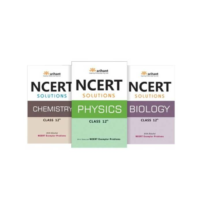 NCERT Solutions Physics, Chemistry, Biology Class XII (Pack of 3