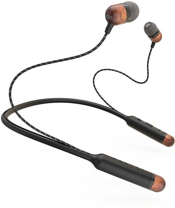 1f9da95463c House of Marley Smile Jamaica EM-JE083-SB Bluetooth Headset with Mic  (Signature Black, In the Ear)