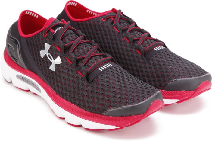 under armour red running shoes