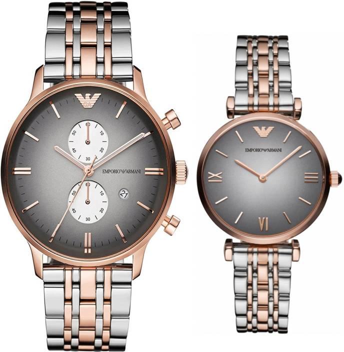 6ba5f1a857626 Emporio Armani AR1721 & AR1725 Couple Watch - For Couple - Buy Emporio  Armani AR1721 & AR1725 Couple Watch - For Couple AR1721 & AR1725 Couple  Online at ...