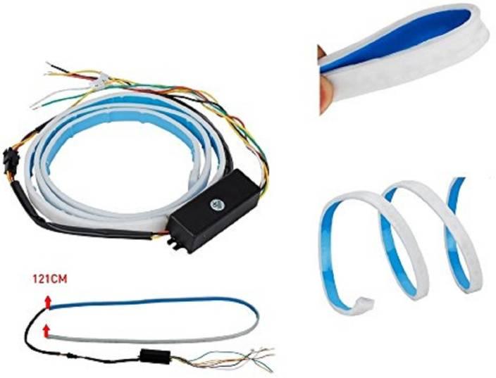 AllExtreme CAR Tailgate LED Strip Light, Car Rear Tail Lights Streamer  Brake Turn Signal LED Lamp Strip Waterproof, Car LEDs Strips Braking light  free