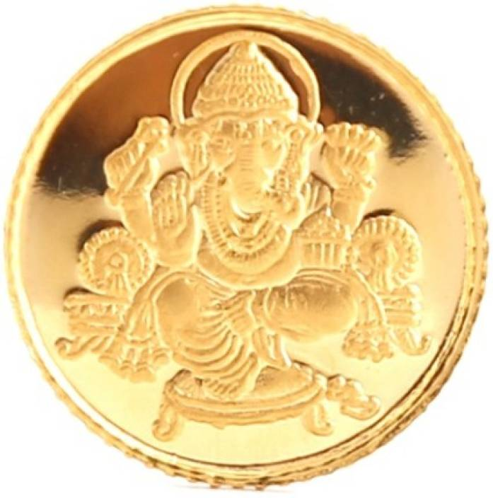 Bangalore Refinery Ganesh 24 (999) K 5 g Yellow Gold Coin