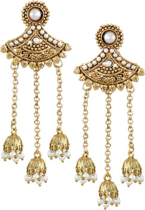 d4e7caa5622 Flipkart.com - Buy Zaveri Pearls Jhumki Drop Zinc Dangle Earring ...