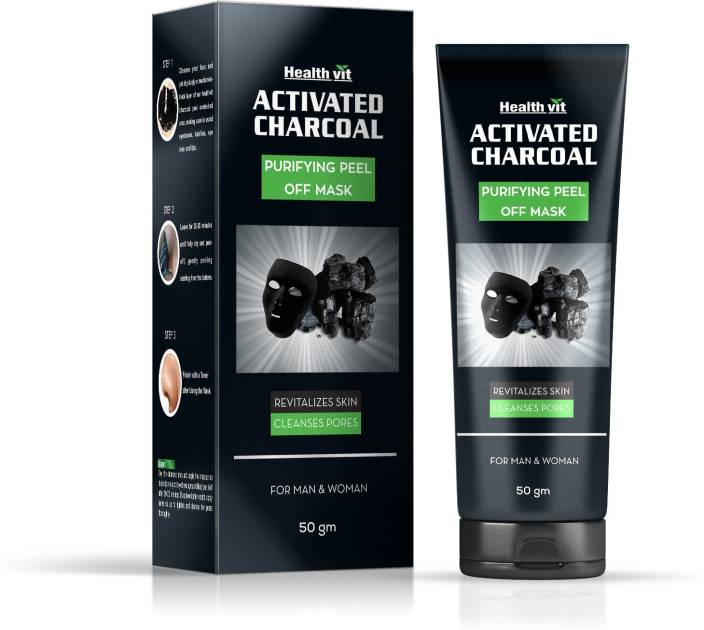 Healthvit Activated Charcoal Purifying Peel off Mask 50gm