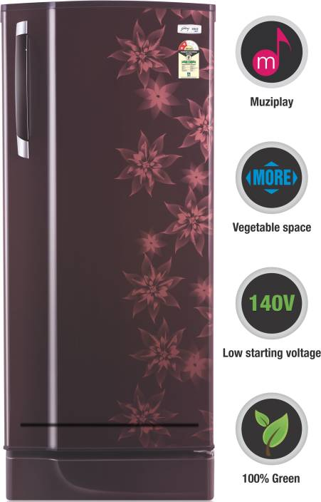 Godrej 185 L Direct Cool Single Door 2 Star Refrigerator