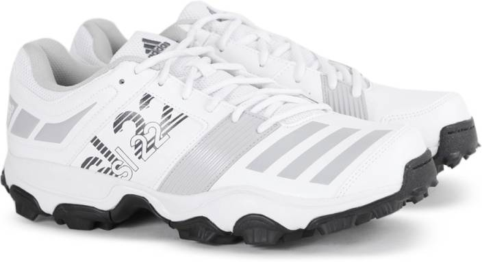 separation shoes 1fd89 c10a8 ADIDAS SL22 TRAINER 2017 Cricket Shoes For Men (White, Grey)