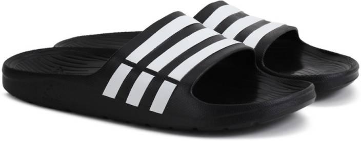 0f10e8a0 ADIDAS DURAMO SLIDE Slippers - Buy BLACK1/WHT/BLACK1 Color ADIDAS ...