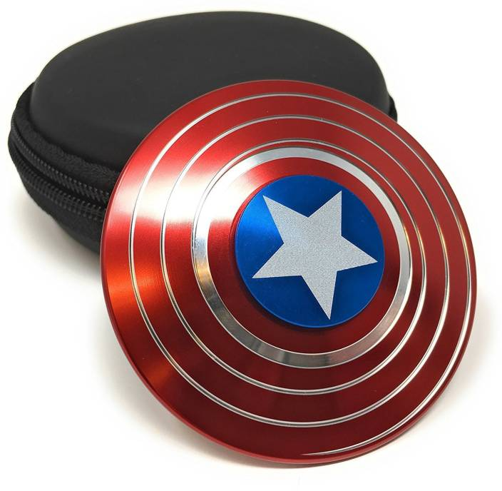 VibeX ® Premium Quality Red White and Blue - Captain America Star Shield Fidget Spinner (Multicolor)