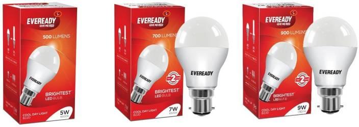 Eveready 5 W, 7 W, 9 W Standard B22 D LED Bulb