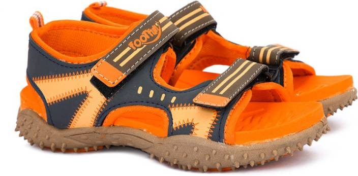 Footfun by Liberty Boys & Girls Velcro Sports Sandals  (Orange)