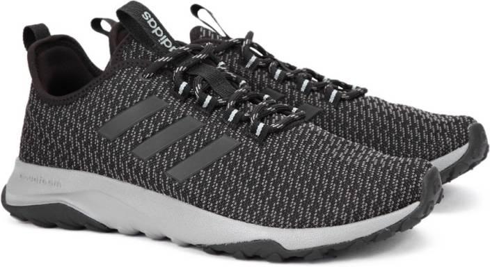 adidas neo men's cloudfoam swift racer cblack and ftwwht grey sneakers