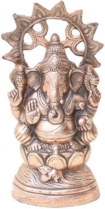 Apkamart Handicraft Lord Ganesh Statue - 13 Inch - Decorative Metal Ganesha Statue for Home Decor and Gifts Showpiece  -  33 cm