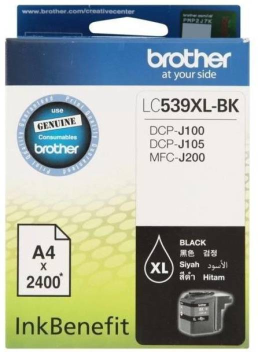 Brother LC-539XL-BK Ink Cartridge Box Pack Single Color Ink Cartridge (Black)