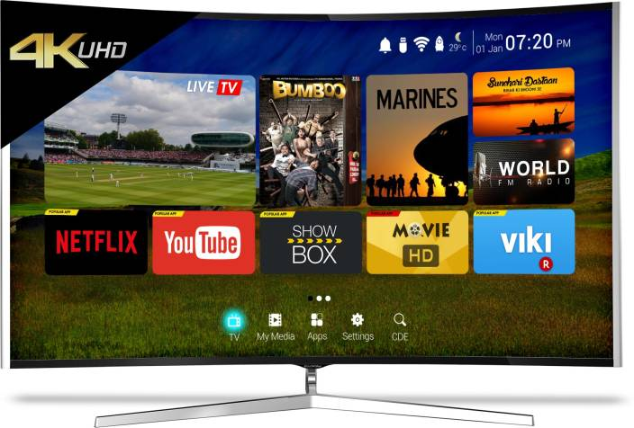 CloudWalker 165cm (65 inch) Ultra HD (4K) Curved LED Smart TV