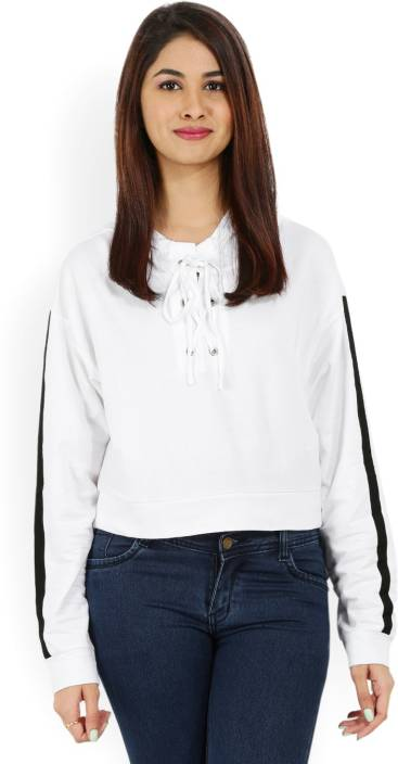 Forever 21 Casual Full Sleeve Solid Women White Top