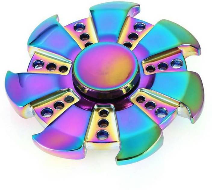 MSE Shining 7-blade Fidget Spinner Stress Relievers Toy-A6