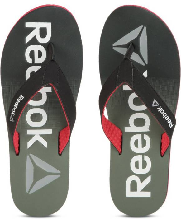 873e43180 REEBOK EMBOSSED FLIP Flip Flops - Buy COAL GREEN RED SILVER WHT Color REEBOK  EMBOSSED FLIP Flip Flops Online at Best Price - Shop Online for Footwears  in ...