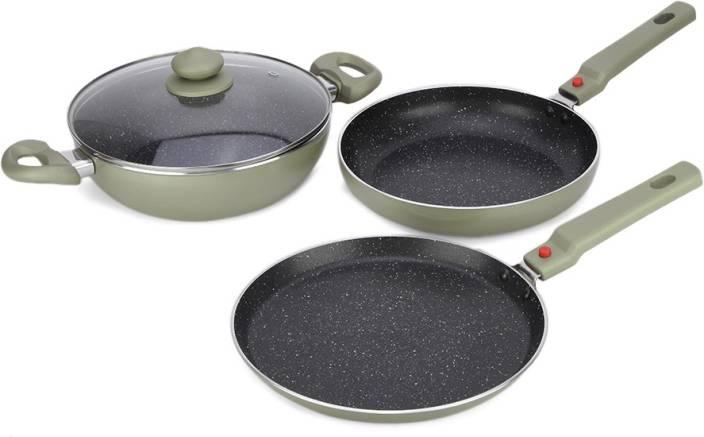 7c5471374ee Prestige Omega Festival Pack - Build Your Kitchen Set Induction Bottom  Cookware Set (Aluminium