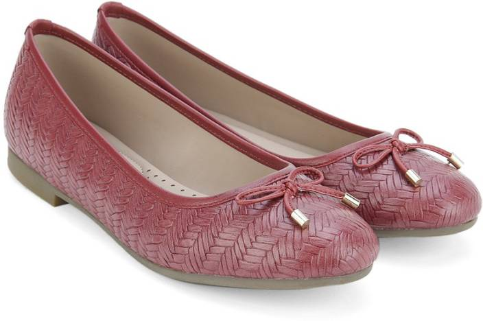 Bata WEAVE BALLERINA Bellies For Women - Buy Red Color Bata WEAVE ... 80f4953a11