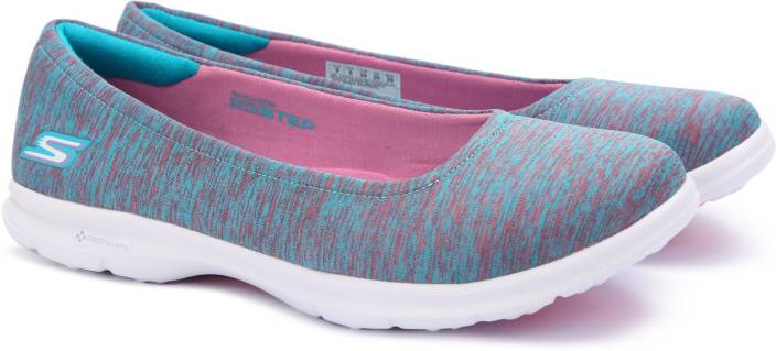 Go Step Sports Shoes Blue And Pink