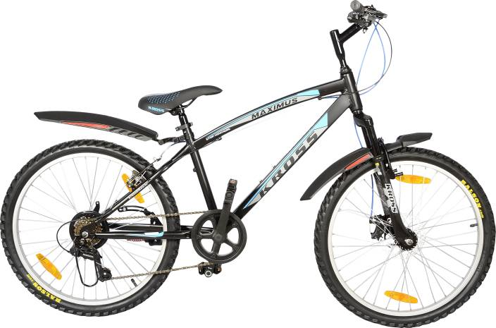 b3174b7053ea Kross Maximus 7Speed Teenagers Bike Black 24 T Mountain Hardtail Cycle (7  Gear