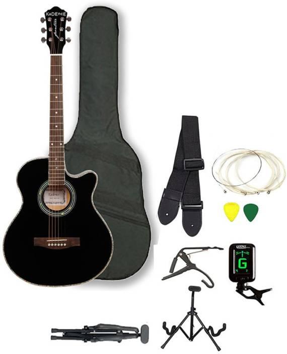 Kadence KAD-FNTR-BLK-SC Spruce Acoustic Guitar