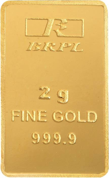 Bangalore Refinery 2 g Bar 24 (9999) K 2 g Gold Bar