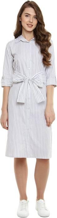 Miss Chase Women's Shirt Black, White Dress
