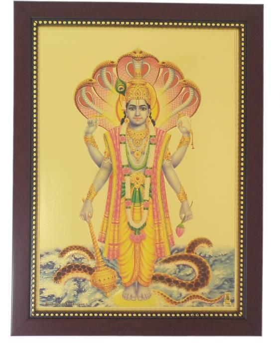 Generic Lord Vishnu (34 cm x 24 cm x 1.5 cm, Red) / Wall Hangings ...