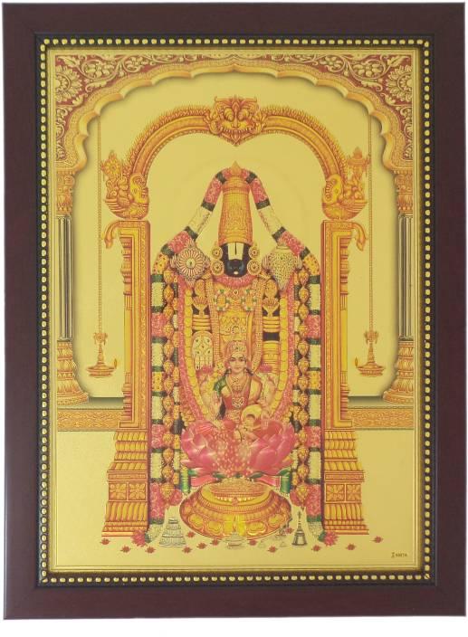 Generic Lord Balaji and Lakshmi (34 cm x 25 cm x 1.5 cm, Red) / Wall ...