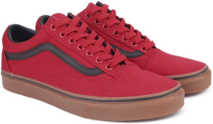 40e90a90f8 Vans Old Skool Sneakers For Men - Buy (Gum) racing red black Color ...