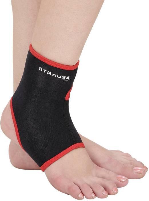 Strauss Medium Ankle Support (M, Black, Red)