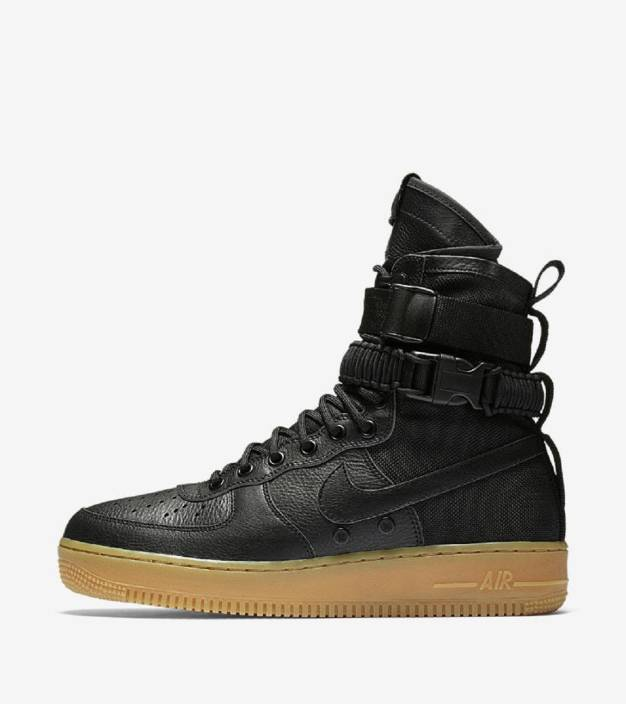 05ccc9097b Adibon SF AF1 Special Field Air Force 1 urban utility in a  military-inspired by NK Riding Shoes For Men (Black)