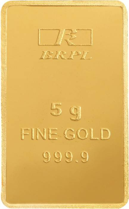 Bangalore Refinery Brpl Purity 24 (9999) K 5 g Gold Bar