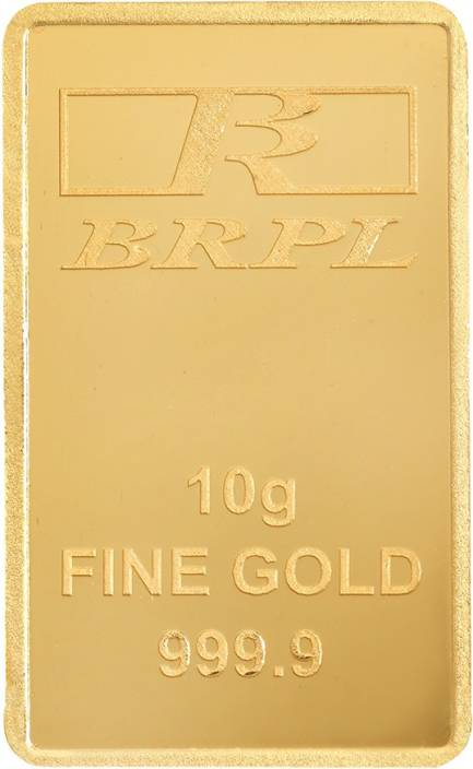Bangalore Refinery Brpl Purity Bar 24 (9999) K 10 g Gold Bar