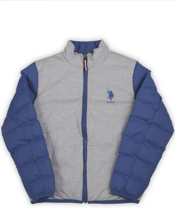 US Polo Kids Full Sleeve Solid Boys Sports  Jacket
