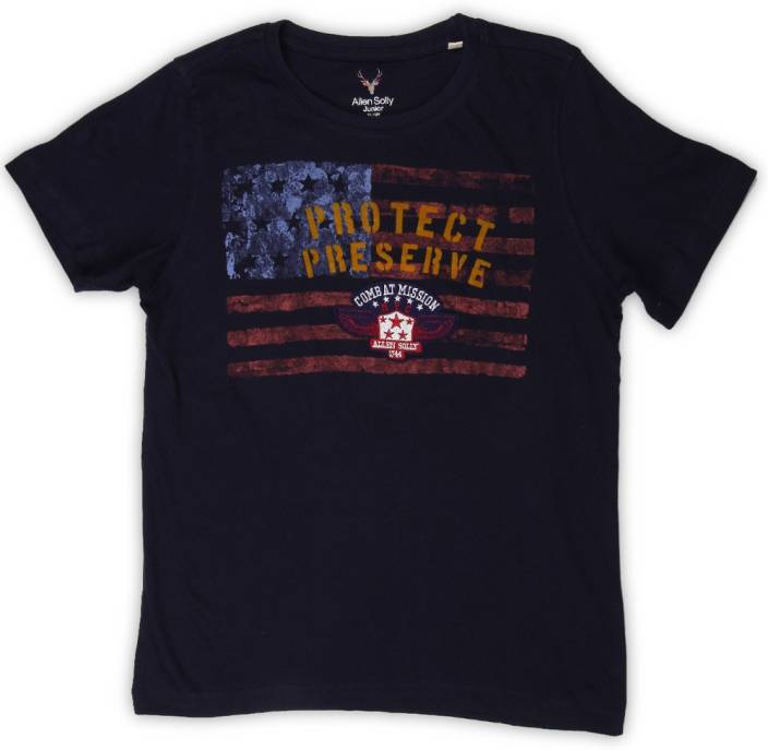 Allen Solly Junior Boys Printed Cotton T Shirt