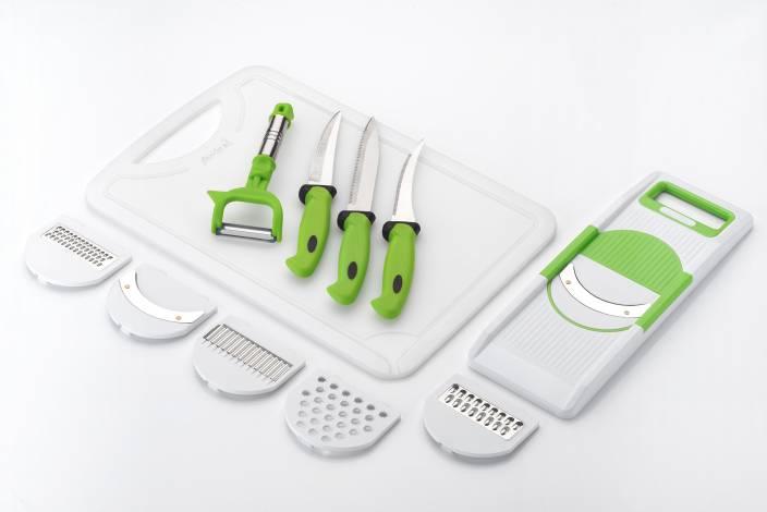 Amiraj FK CB GREEN Combi - 3 White, Green Kitchen Tool Set