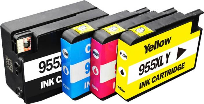 Dubaria 955 Ink Cartridge Combo of Cyan, Magenta, Yellow & Black For HP 955  For Use In HP OfficeJet Pro 7740, 8210, 8216, 8700, 8710, 8715, 8716,