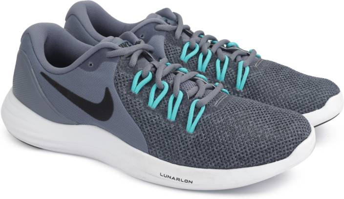 reputable site 47a7f d28f8 Nike LUNAR APPARENT Running Shoes For Men (Grey)