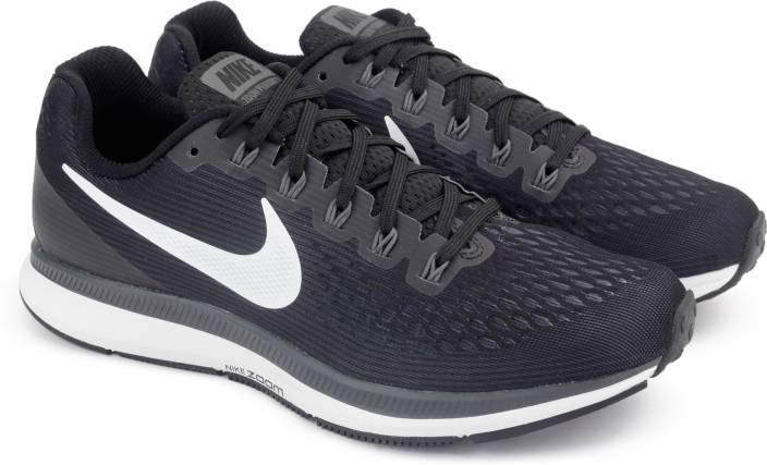 14e95ddf1217 Nike AIR ZOOM PEGASUS 34 Running Shoes For Men - Buy BLACK WHITE ...