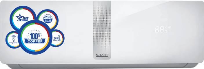 Mitashi 1 Ton 5 Star BEE Rating 2017 Split AC   White MiSAC105v25, Copper Condenser