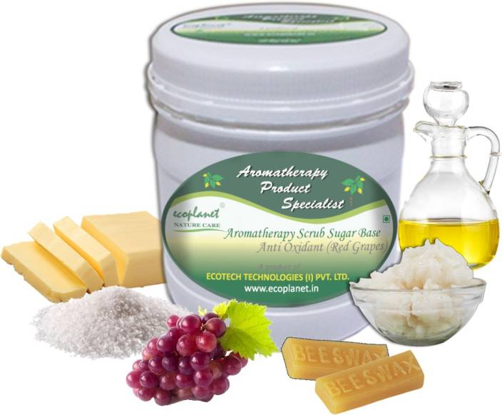 ecoplanet Aromatherapy Scrub Sugar Base Anti Oxidant (Red Grapes) Scrub