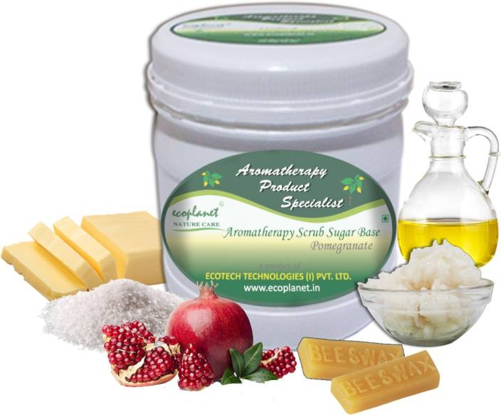 ecoplanet Aromatherapy Scrub Sugar Base Pomegranate Scrub