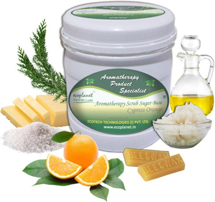 ecoplanet Aromatherapy Scrub Sugar Base Cypress Orange Scrub