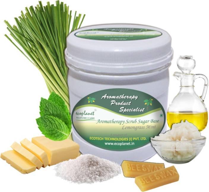 ecoplanet Aromatherapy Scrub Sugar Base Lemongrass Mint Scrub