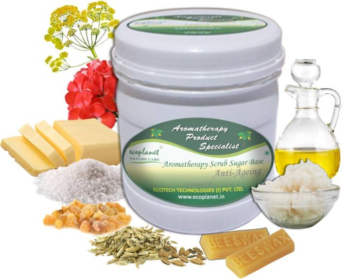 ecoplanet Aromatherapy Scrub Sugar Base Anti Aging Scrub